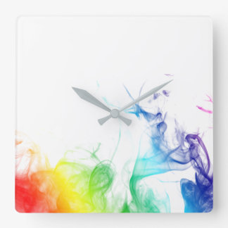 "MyPride365 - ""Rainbow Smoke"" Acrylic Wall Clock"