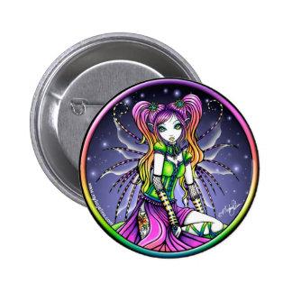 Myra Celestial Rainbow Fairy Button