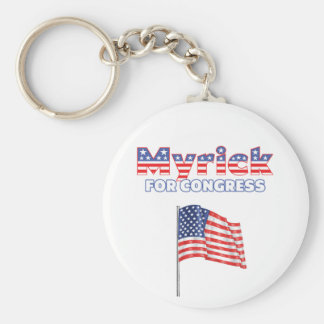 Myrick for Congress Patriotic American Flag Basic Round Button Key Ring