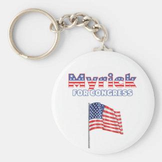 Myrick for Congress Patriotic American Flag Basic Round Button Key Ring