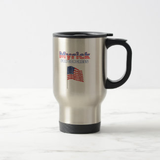 Myrick for Congress Patriotic American Flag Stainless Steel Travel Mug