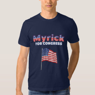 Myrick for Congress Patriotic American Flag T Shirts