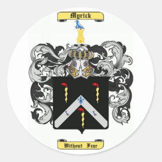myrick round sticker