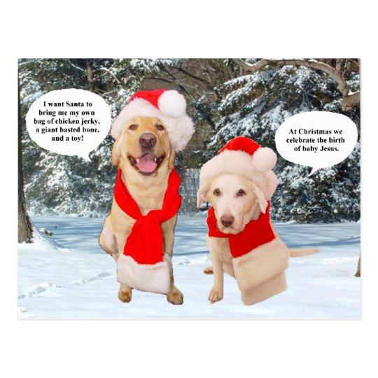 Myrtie & Moses on Christmas Postcard