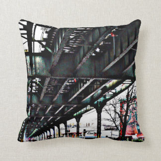 MYRTLE AVE SUBWAY LINE - BROOKLYN NEW YORK PILLOW