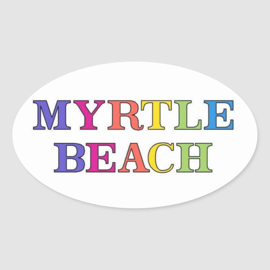 Myrtle Beach Colours Oval Sticker