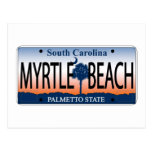 Myrtle Beach License Plate Post Cards