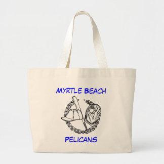 Myrtle Beach Pelicans Canvas Jumbo Tote Bag