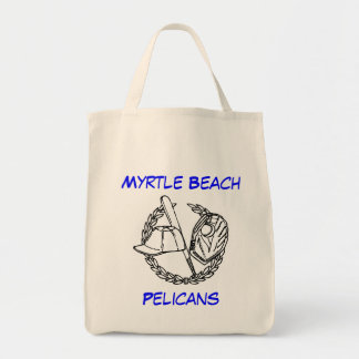 Myrtle Beach Pelicans Organic Grocery Tote Bag