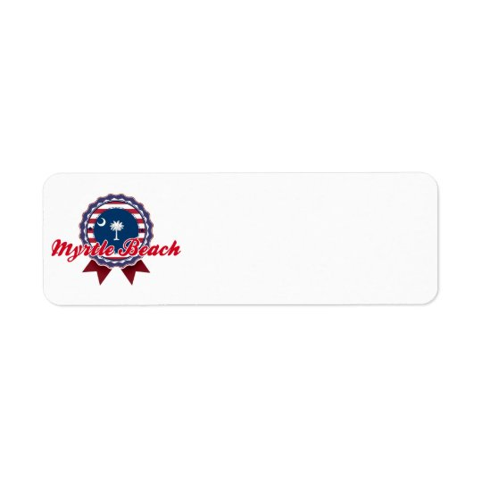 Myrtle Beach, SC Return Address Label