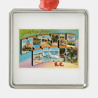 Myrtle Beach South Carolina SC Vintage Postcard- Christmas Ornament
