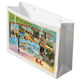 Myrtle Beach South Carolina SC Vintage Postcard- Large Gift Bag