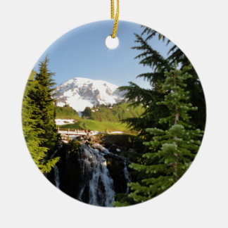 Myrtle Falls, Mount Rainier Christmas Ornament