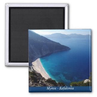 Myrtos - Kefalonia Square Magnet