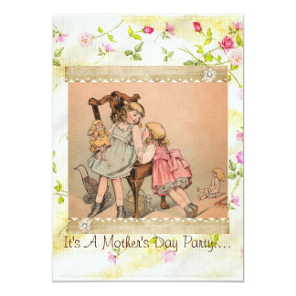 Mys Rosebud Mother's Day invitation