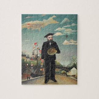 Myself Portrait Landscape 1890, Henri Rousseau Jigsaw Puzzle
