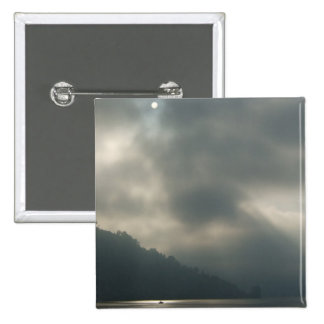 Myserious Stormy Skies by the Lake 15 Cm Square Badge