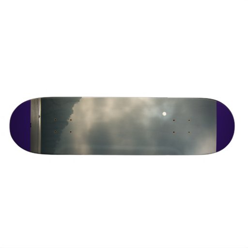 Myserious Stormy Skies by the Lake Skate Board Decks