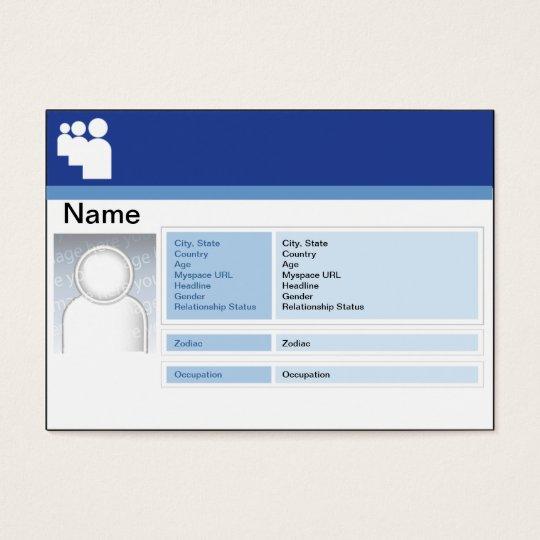 Myspace Dark - Chubby Business Card