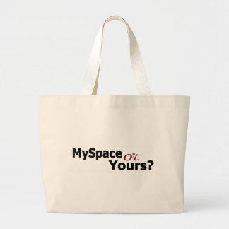 Myspace Or Yours? Jumbo Tote Bag