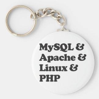 Mysql Apache Linux PHP Basic Round Button Key Ring