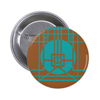 Myst - D'ni Stained Glass 1 (Teal) 6 Cm Round Badge