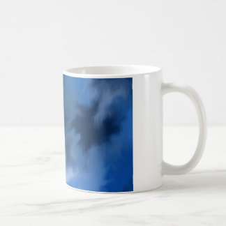 Mysterious abstract blue. coffee mug