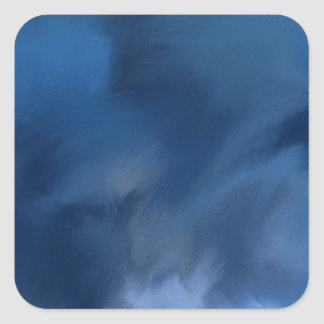 Mysterious abstract blue. square sticker