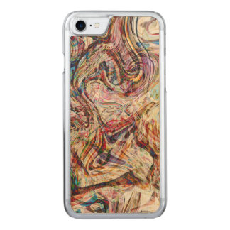 Mysterious Abstract Swirls Carved iPhone 8/7 Case
