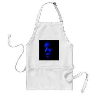 Mysterious Alien Ghostly Face in the Dark.jpg Standard Apron
