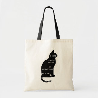 Mysterious as a Cat Edgar Allan Poe Quote Canvas Bag