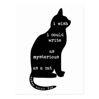 Mysterious as a Cat Edgar Allan Poe Quote Postcard