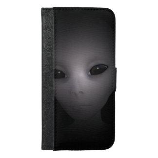 Mysterious black Alien iPhone 6/6s Plus Wallet Case