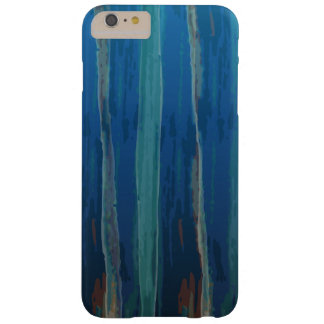 Mysterious Blue Watercolor Barely There iPhone 6 Plus Case