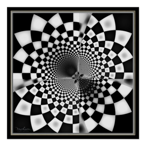 Mysterious Chequered Hole Poster