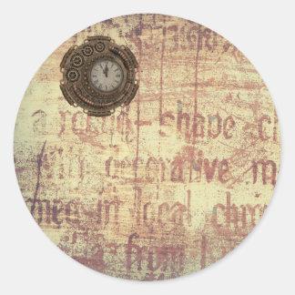 Mysterious Clock Round Sticker