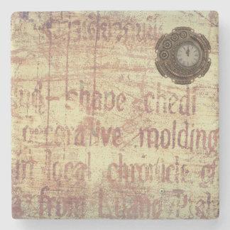 Mysterious Clock Stone Coaster