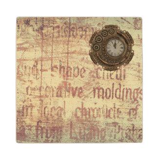 Mysterious Clock Wood Coaster