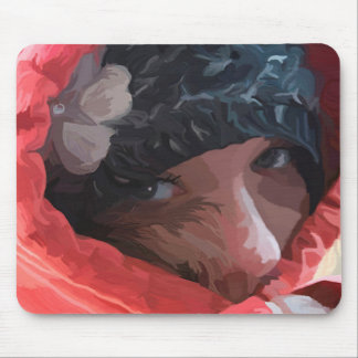Mysterious Girl Mouse Pad