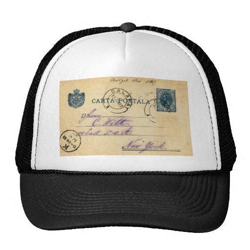 Mysterious handwriting on the back of this - 1897 trucker hats