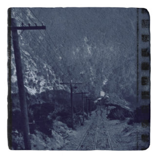 Mysterious Historical Train Railroad tracks 1910 Trivet
