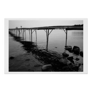 Mysterious Lake Pier Poster