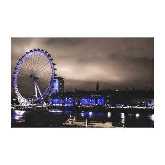 Mysterious London Eye Landscape by Night Canvas Canvas Prints