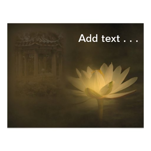 Mysterious Lotus Pond with Moonlit Water Lily Flyer Design