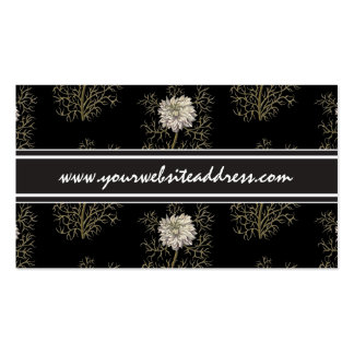 Mysterious Medieval Flower Business Card Template