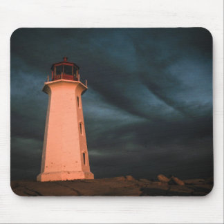 Mysterious Night at Peggy s Cove Nova Scotia Can Mouse Pad