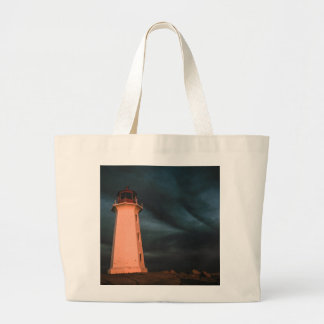 Mysterious Night at Peggy's Cove, Nova Scotia, Can Tote Bags