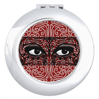 MYSTERIOUS ROMANTIC EXOTIC EYES by Slipperywindow Compact Mirror