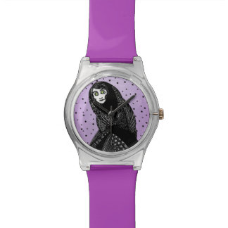 Mysterious Spooky Witch Woman Stars Watch