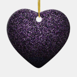 Mysterious sprinkle of violet ceramic heart decoration